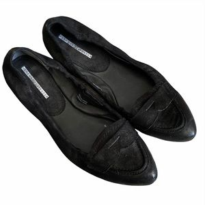 Vera Wang Lavender Black Loafers Flats Size 9